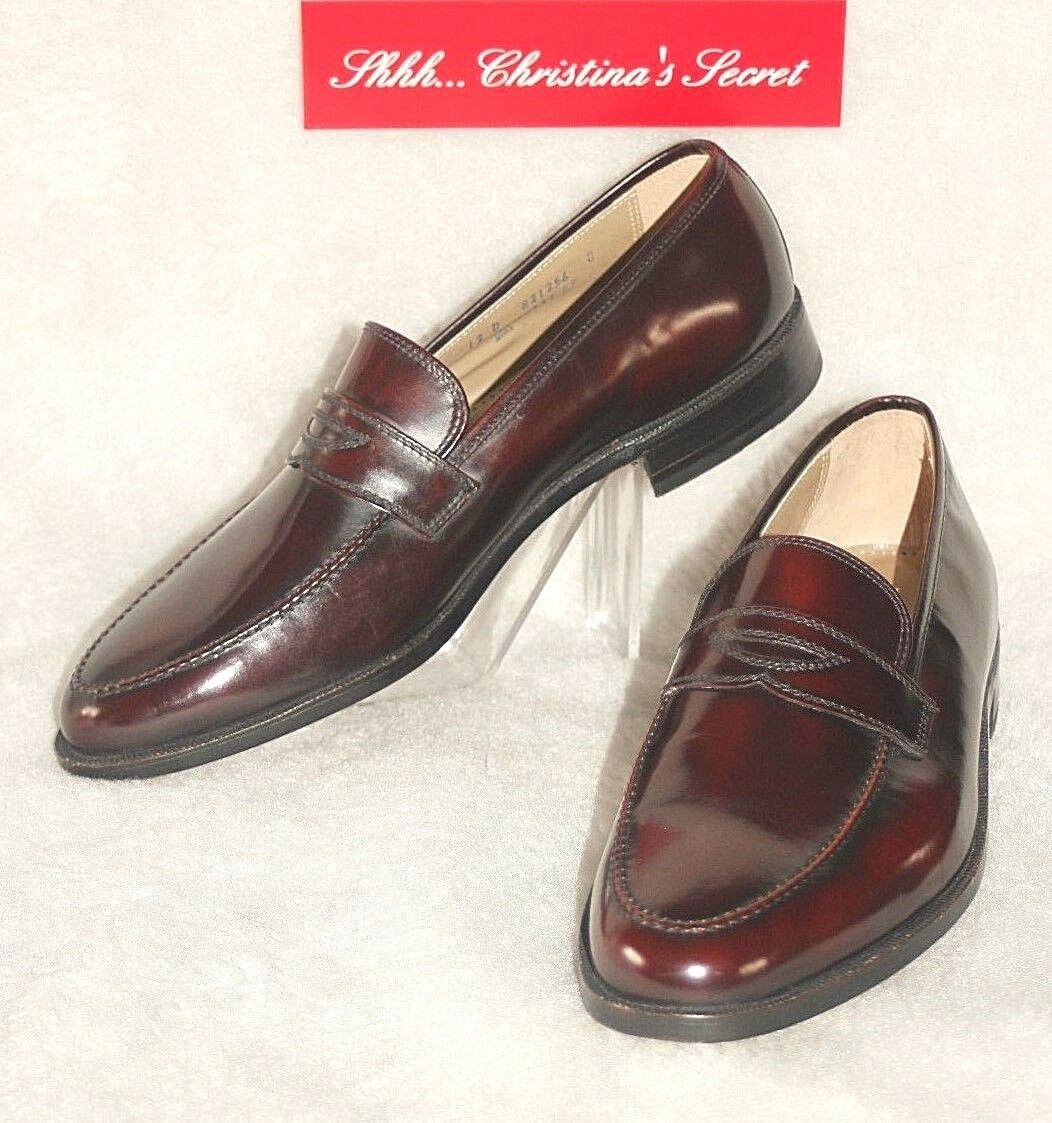 FLORSHEIM Designer Collection NEW Burgundy Leather Dressy schuhe Loafers Sz 12D