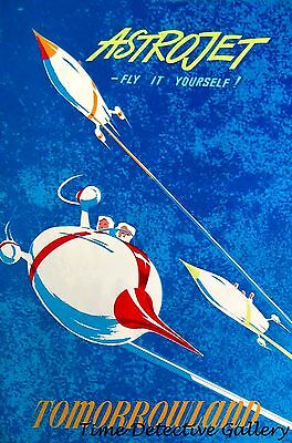 Disneyland Poster Available in 5 Sizes Astro Jet at Tomorrowland