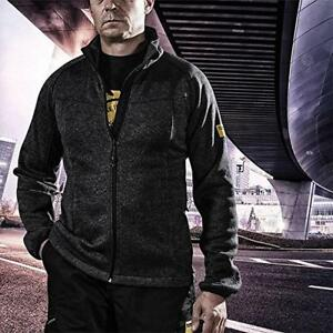 WORKWEAR Men/'s Fully Zip Fleece Jacket in Grey SIZE L