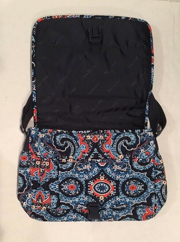 7caa434ea9ba Vera Bradley Messenger Marrakesh Pattern Bag Laptop Campus Crossbody ...