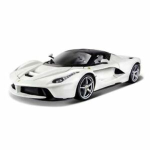 Bburago-1-24-Ferrari-LaFerrari-White-Diecast-Model-Sports-Racing-Car-Vehicle-Toy