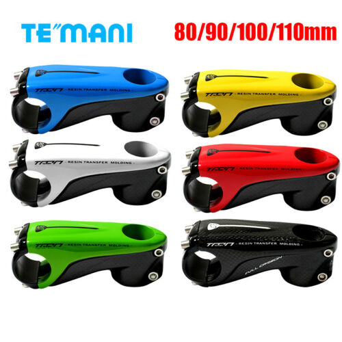 T800 Carbon Fiber Handlebar Bar Mount Clamp Stem MTB Road Bike 80//90//100//110MM
