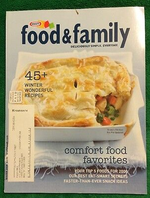 Winter 2008 Kraft Food And Family Magazine Cookbook Food Recipes