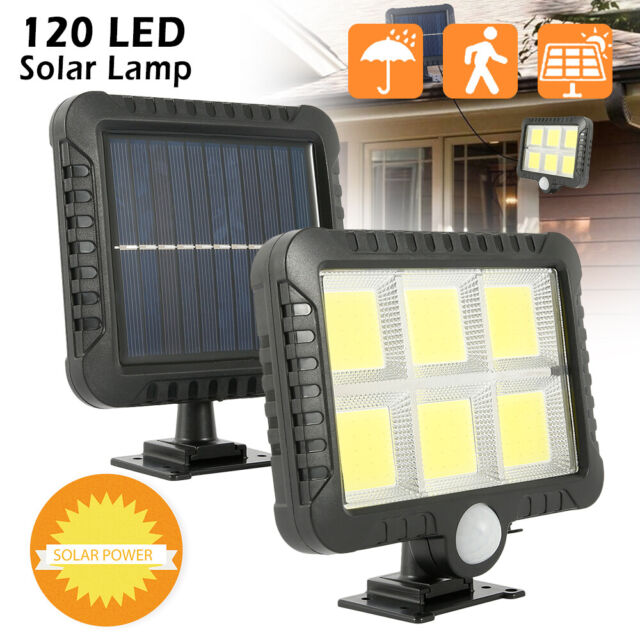 48 LED Solarleuchte Lampe mit Bewegungsmelder Wandleuchte Gartenlampe Fluter DHL