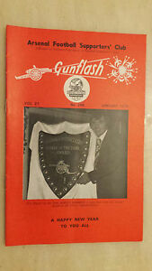 GUNFLASH-ARSENAL-Football-Supporters-Club-Magazine-Vol-27-No-266-Jan-1976