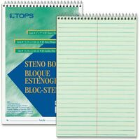 Tops Products Steno Book, Gregg Rule, 80sheets/pd, 6x9, 12/pk, Gn Tint 8021dz on sale