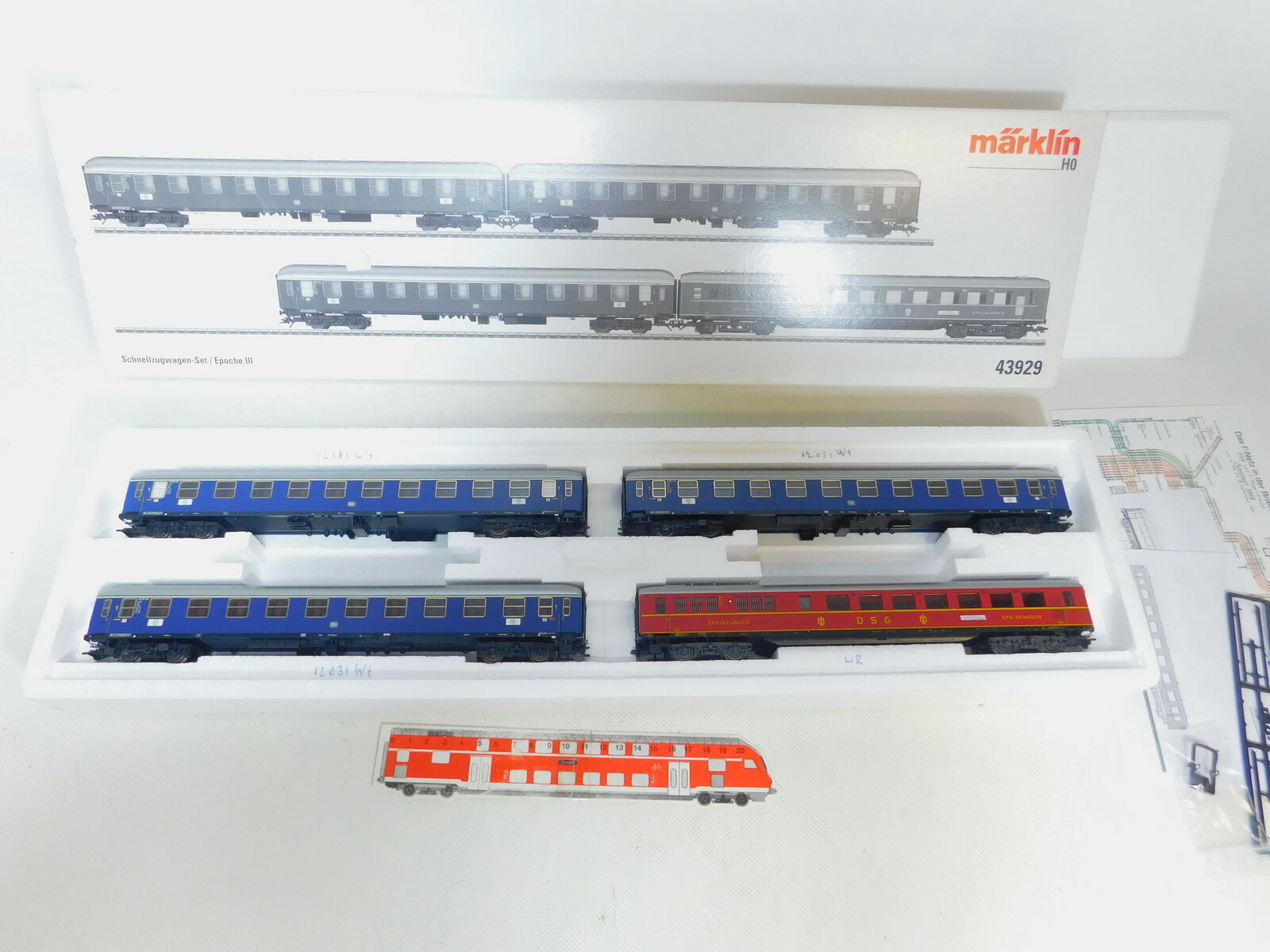 By3-3  Märklin H0 Dc 43929 Vagone Treno insieme Db   DSG Nem Kk , Nuovo +