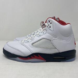 Nike-Air-Jordan-5-Retro-SZ-13-True-White-Fire-Red-Black-DA1911-102