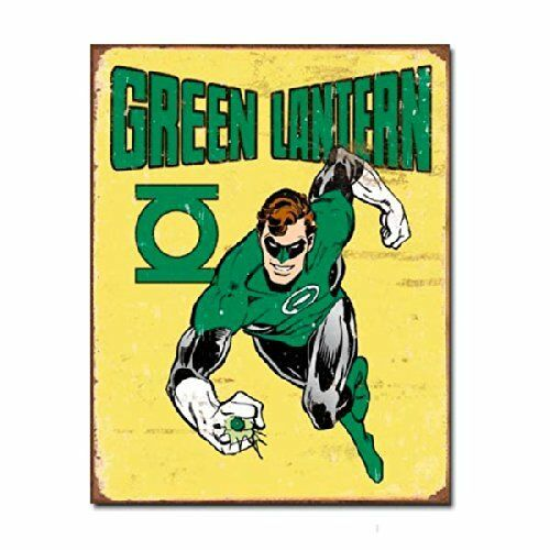 Green Lantern Comic Super Hero DC Marvel Retro Wall Decor Metal Tin Sign New
