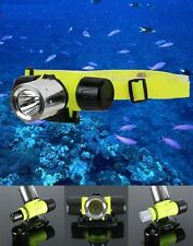 1800LM CREE XM-L T6 Super Bright Underwater Diving Headlamp Light