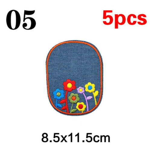 Sewing Knee Repair Iron Elbow Patches Appliques Badges Embroidered