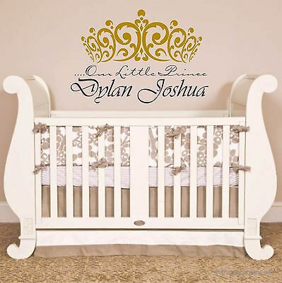 Our Little Prince  Wall Decal Nursery Crown Flourish Design kids room decal