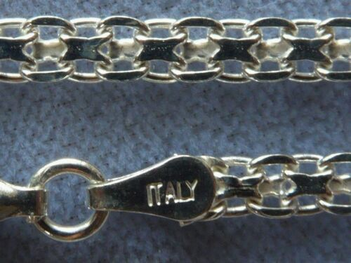 "NEW 10/"" ITALIAN STERLING SILVER ANKLE BRACELET BISMARK ITALY 925 3mm-050"