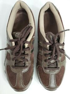 Skechers-woman-Choco-Brown-Leather-Upper-Lace-Up-Shoes-6M