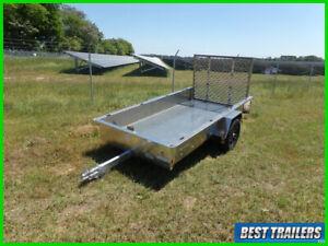 2021 belmont 5 x 10 aluminum utility trailer New cargo tilt motorcycle hauler