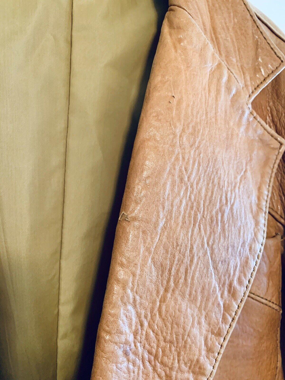 Vintage 1970's Pioneer Wear Tan Brown Leather Bla… - image 5