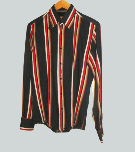BEN SHERMAN VINTAGE 90s COLOR BLOCK STRIPED SHIRT