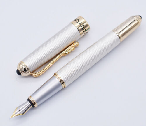 Jinhao Vintage Fountain Pen with Dragon Clip F Nib Signature Business Gift Pen