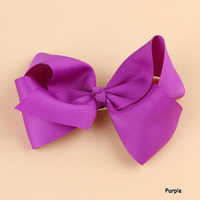 Hot Fashion Grosgrain Ribbon Bow Hair Clip Pin Aligator Clips Flower Baby/Girl