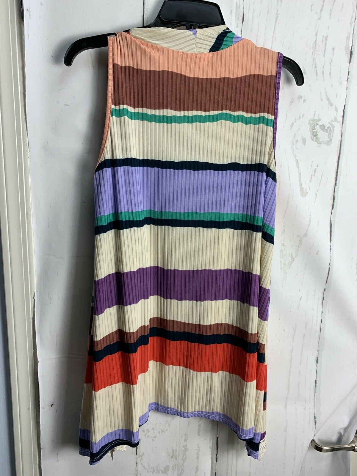 Hopely S Lilac Multicolor Stripe Lace Accent Ribb… - image 5
