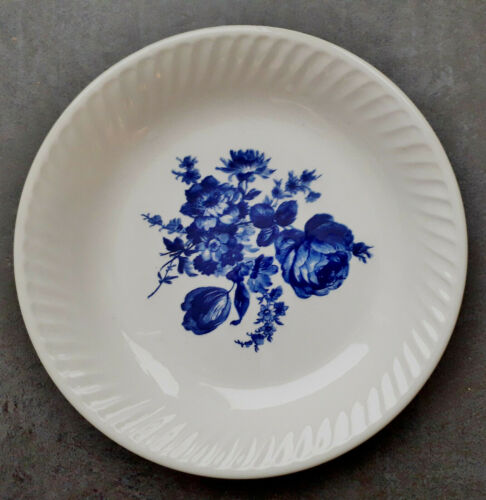 ASSIETTE CREUSE en Faïence de GIEN à décor floral bleu 11 disponibles