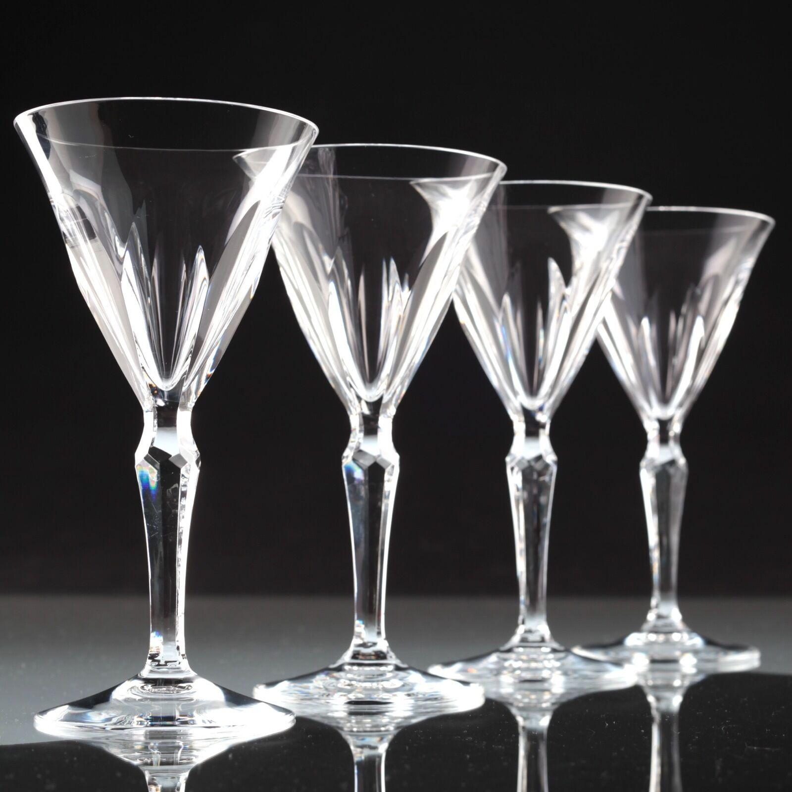 4 Vintage Peill Kristall Weißgläser WeißWeißgläser Gläser klar U4U