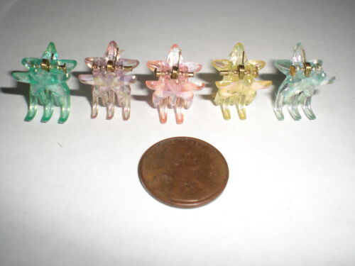 Mini STAR Shiny Cute Plastic Hair Snap Claw Styling Clip Lot of 288 Clips NEW