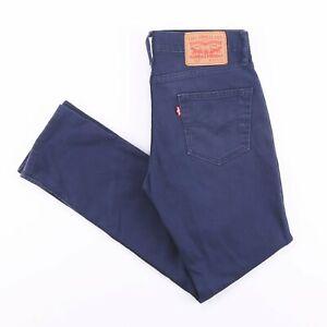 Vintage-Levi-039-s-511-Slim-Straight-Fit-Herren-Blue-Jeans-w30-l30