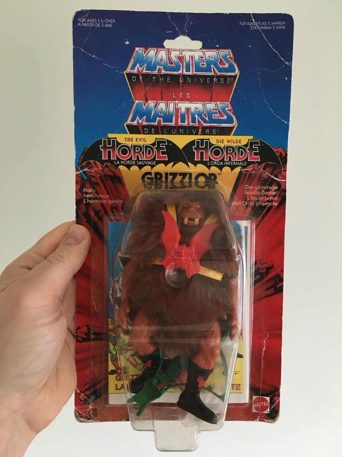 Vintage Heman He-man masters of the universe MOTU Grizzlor Moc Carded