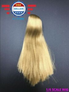 1//6 scale LONG BLONDE Hair Wig for 12/'/' Female Figure Doll