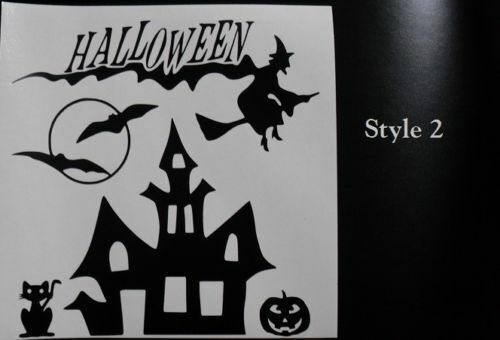"Haunted House Halloween Decal sticker for DIY 8/"" glass block shadow box"