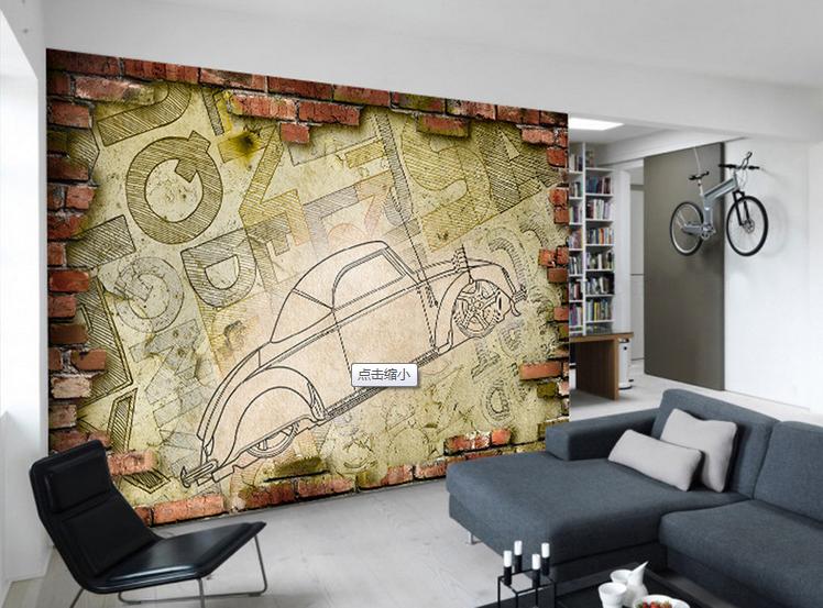 3D Retro Car Graffiti 699 Wallpaper Mural Paper Wall Print Wallpaper Murals UK