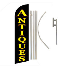 Antiques Full Curve Swooper Windless Flag Kit Advertising Flag Vintage