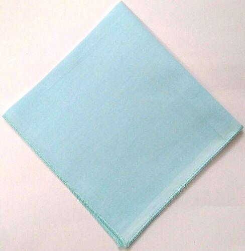 100/% Cotton Plain Pocket Square For Embroidery Handkerchief Hanky Men Women