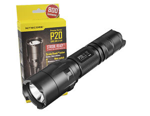 Nitecore P20 Strobe Ready Tactical Law Enforcement LED Flashlight ...