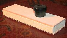 "Leather Knife Strop Block + Premium Polishing Compound 8""x2.25""  2 sided"