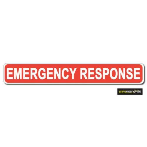 Magnetic sign EMERGENCY RESPONSE Red White vehicle Magnet MG193