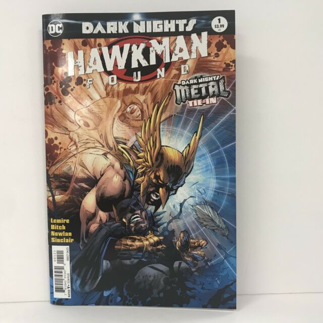 SOLD OUT 1ST PRINT HAWKMAN FOUND #1 METAL