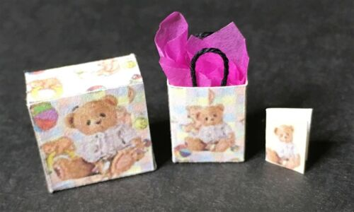 Lot of Dollhouse Miniatures for the Baby Shower - Teddy Bear