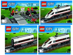 LEGO CITY Notice Instruction (60051) High-speed Passenger Train NEUF 4 Notices