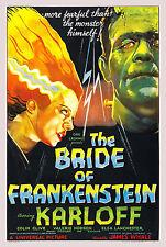SPOSA di Frankenstein BORIS KARLOFF Vintage Cinema Movie Poster Print Picture