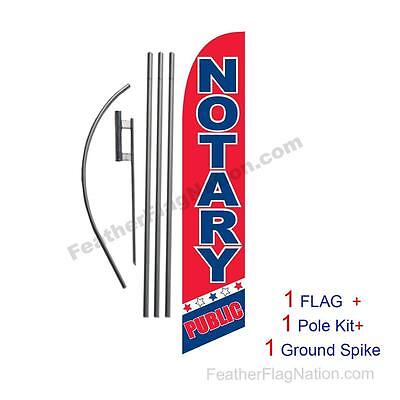 NOTARY PUBLIC Half Curve PREMIUM WIDE Swooper Flag