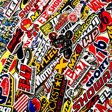 100 Stickers Bomb Motocross Motorcycle Car Music Logo Race Helmet