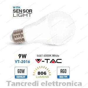 Lampadina-led-V-TAC-9W-E27-bianco-freddo-6000K-VT-2016-A60-sensore-crepuscolare