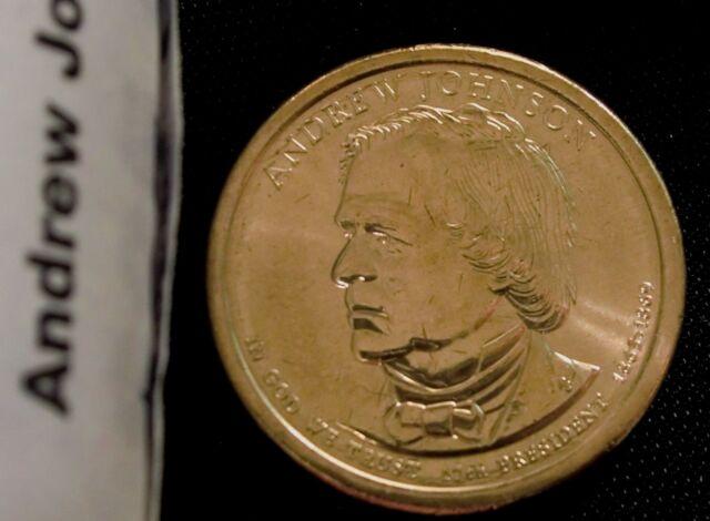 2011 Andrew Johnson Presidential Dollar BU 25 coin rolls P /& D SET String/&Son