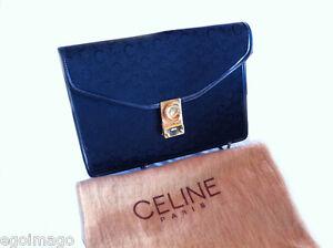 And Pochette Clutch Chic Authentic ParisVintage Céline Monogram firmata cF1JTlK