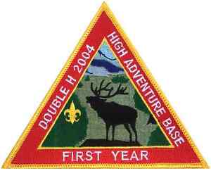 Boy-Scout-2004-Philmont-Double-H-First-Year-Patch-Badge-BSA-Merit-High-Adventure