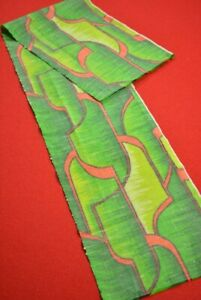 Vintage-Japanese-Kimono-Fabric-Wool-Antique-Boro-Kusakizome-Woven-36-6-034-XB46-45