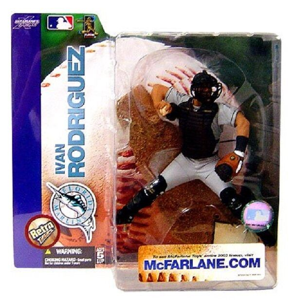 MLB Series 7 Ivan Rodriguez Retro Variant Action Figure by McFarlane JC