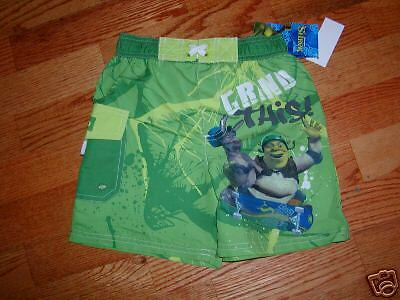 NEW Movie SHREK Donkey Boys Swim Trunks Suit  sz  5//6